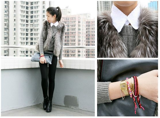 .: Fur Waistcoat, Fashion Style, Fashion Concious, Diy Collars, Collection Fashion, Fall Wint Fashion, Fur Vest Diy, Fashion Bloggers, Fury Vest