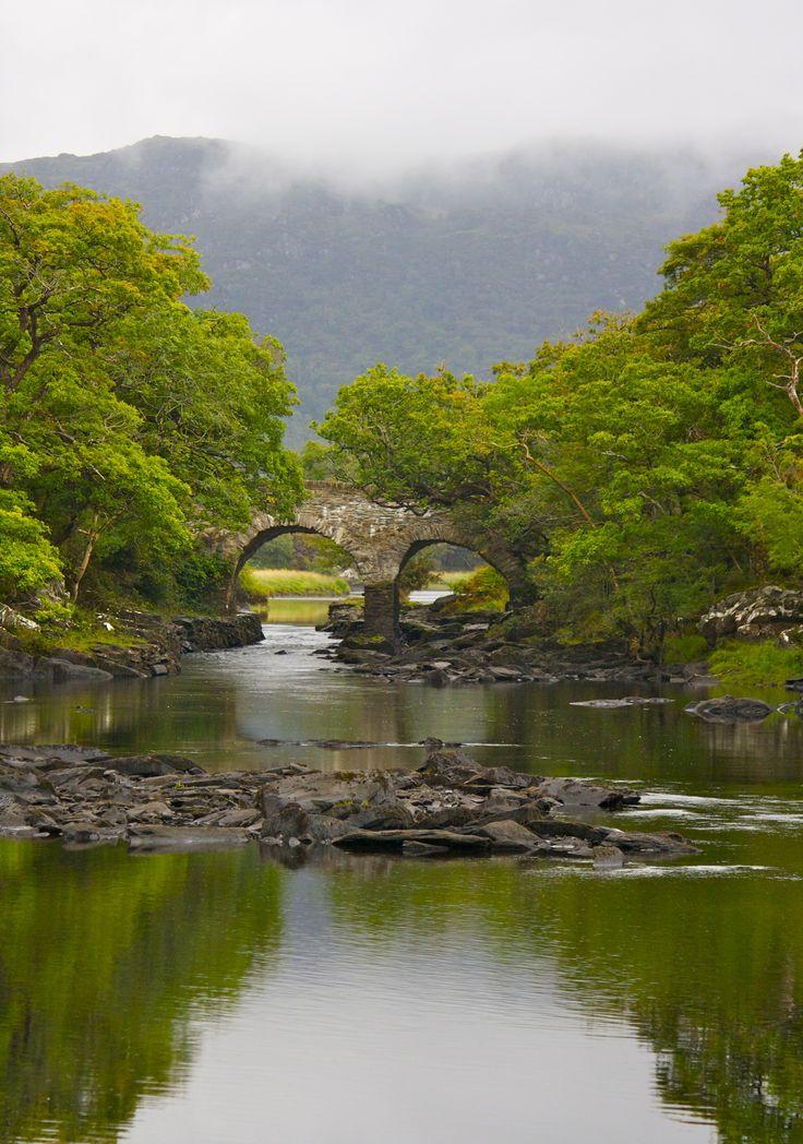 Ancient bridge, within Killarney National Park, Killarney, Ireland