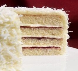Coconut Raspberry Layer Cake - Cakes -Recipes - Baking Mad