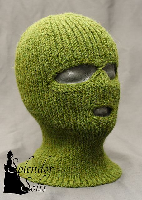 Balaclava Pattern By Splendor Solis Knitted Balaclava