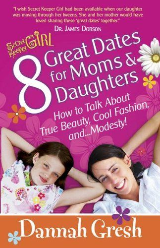 8 Great Dates for Moms and Daughters  by Dannah Gresh ($3.62) http://www.amazon.com/exec/obidos/ASIN/B004G5ZY5Q/hpb2-20/ASIN/B004G5ZY5Q Really great ideas to build our mother/daughter relationship! - Date #6 was amazing! - This book also helped both of us strengthen our personal relationship with God.