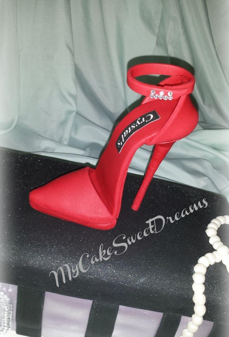 Red Gumpaste Shoe