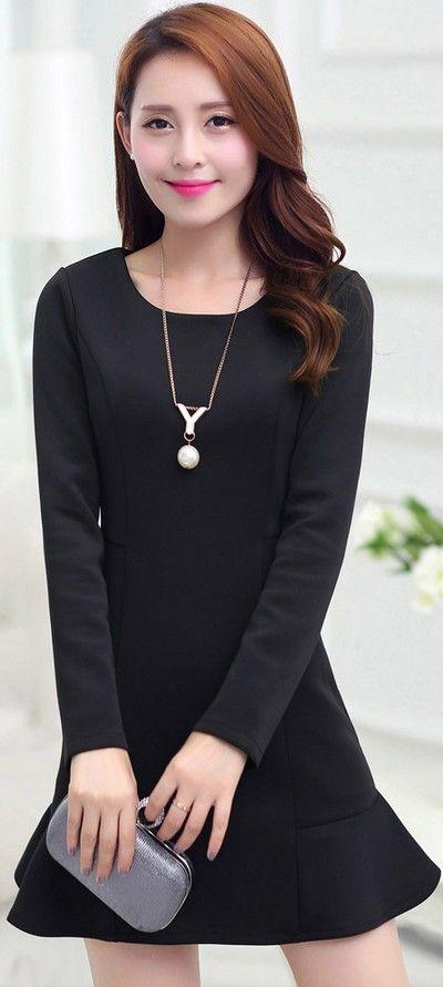 Classy Mini Dress Long Sleeves YRB0314 £15.80