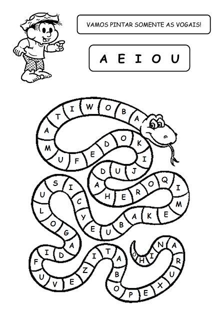 Alfabetizando com Mônica e Turma: Folclore - Vogais