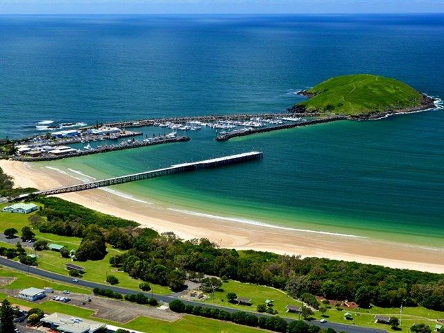 From Hill overlooking Jetty and Marina, Coffs Harbour