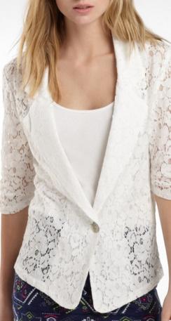 White Lace Blazer!