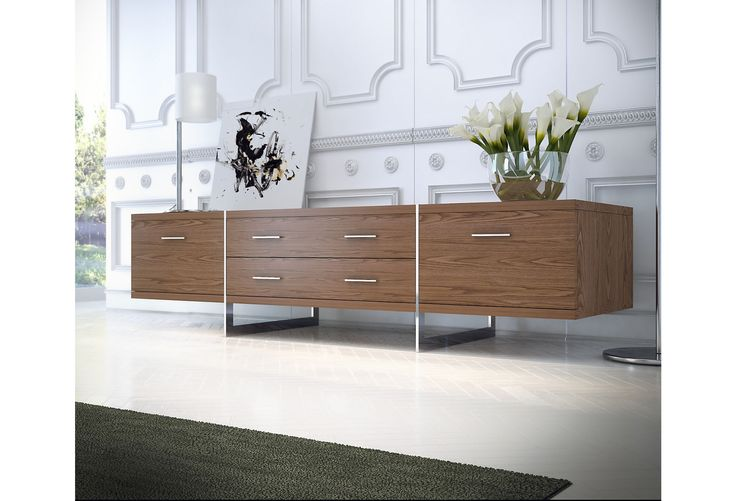 One Kings Lane - Contemporary Living - Allen Media Stand, Walnut