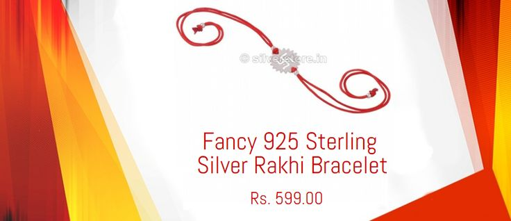 Being a sister, you would always pray for the progress and prosperity of your brother.This silver rakhi has a swastika crafted in it which itself symbolizes the positivity. Tying this pure #silver #rakhi on his wrist means the establishing the bond of safety and security along with love and bliss.