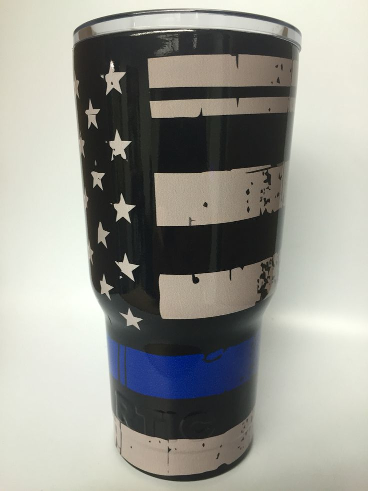 Wrapped RTIC Support Law Enforcement Thin Blue Line