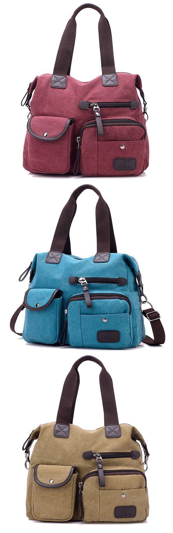 Women Canvas Large Capacity Sport Travel Casual Handbag Crossbody Shoulder Bag.