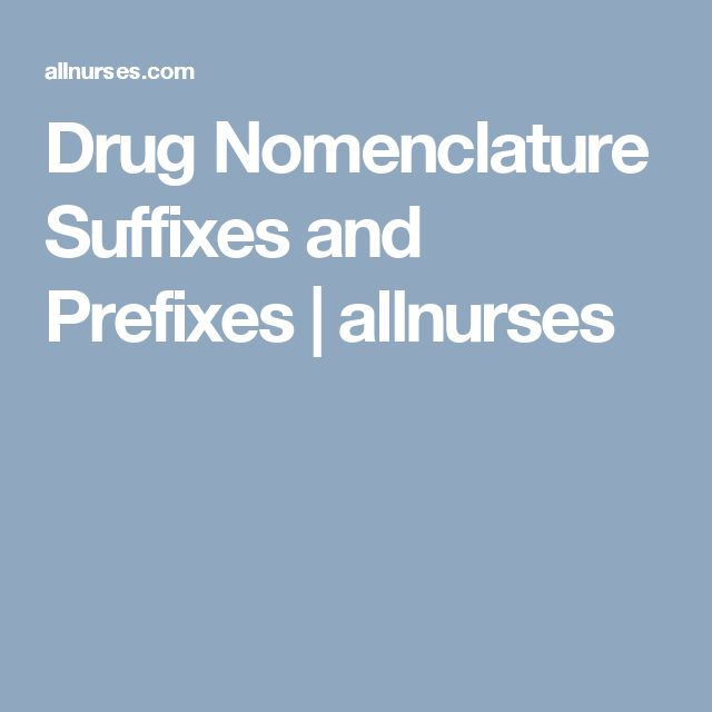 drug prefixes and suffixes pdf
