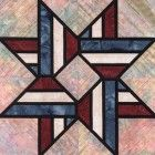Stained Glass Nation's Pride Quilt Block Pattern