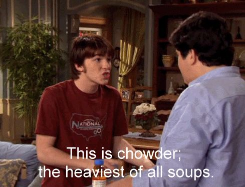 """The definition of chowder. 