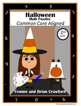 For 2nd grade - Are your students bored of doing the same old math problems? Try this book that has unique types of math puzzles all with a Halloween theme. All puzzles are Common Core Aligned for the second grade. $Halloween Theme, Math Problems, Cores Alignment, Halloween Common, Common Cores Math, Common Core Math, Student Bored, Math Puzzles, Unique Types