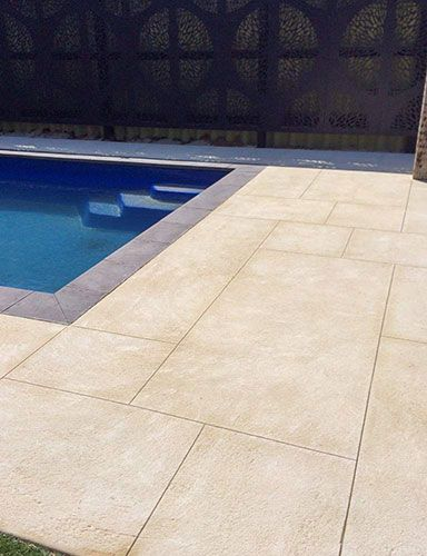 I Really Like The Limestone Flooring In This Outdoor Pool Area I