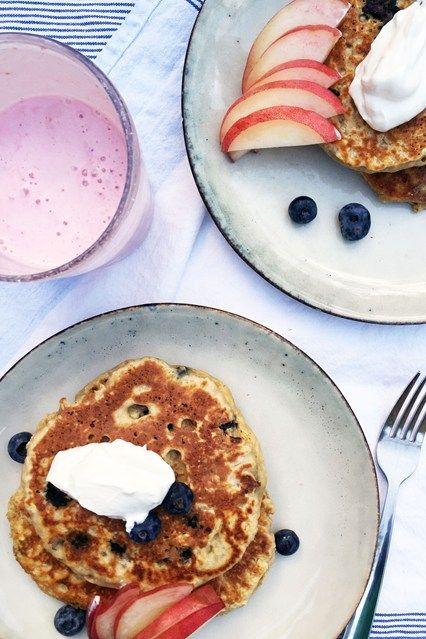 The Detox Kitchen's Healthy Blueberry Pancake Recipe