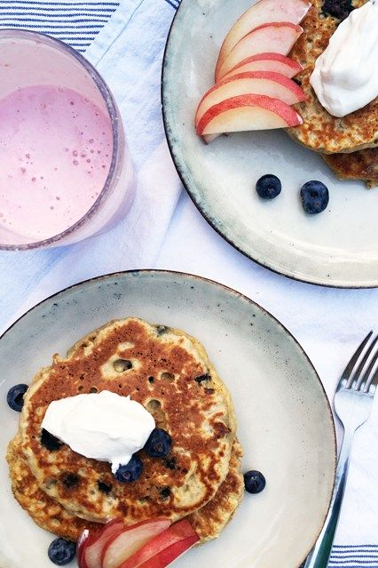 Weekend Brunch Inspiration: The Detox Kitchen's Healthy Blueberry Pancake Recipe