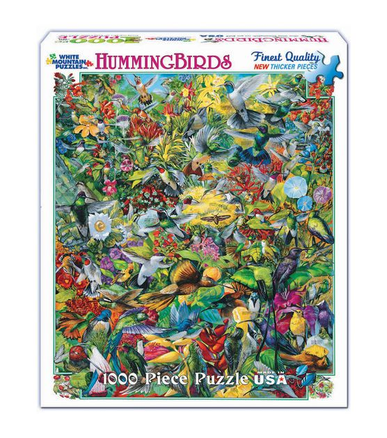 "Jigsaw Puzzle 1000 Pieces 24""X30""-Hummingbirds & Puzzles at Joann.com"