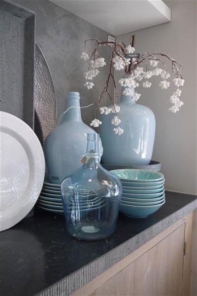 Blue decoration. Vase.