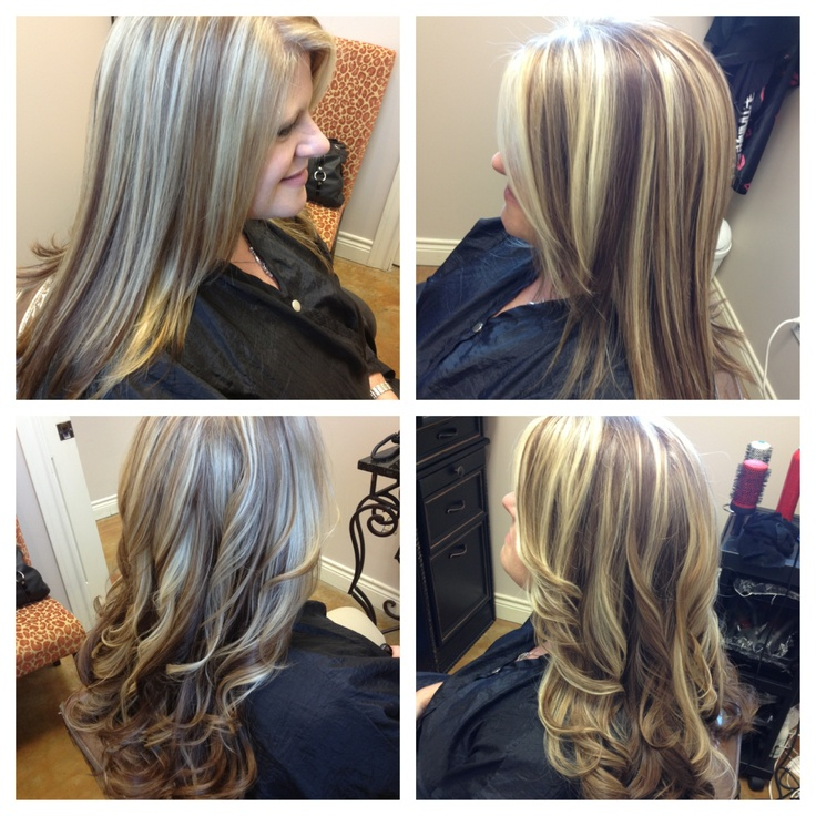 66 best haircut color images on pinterest blondes bobs and blonde bold highlights long layered haircut pmusecretfo Choice Image