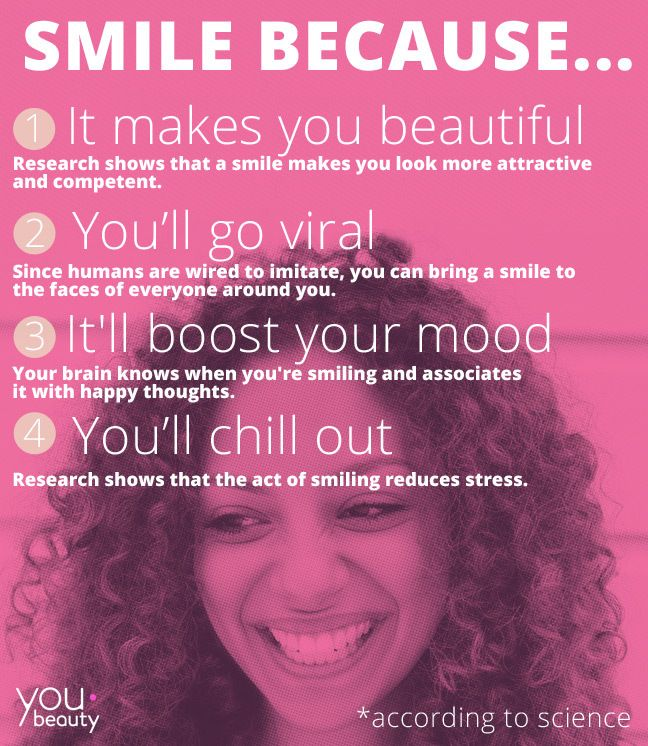 4 Reasons you should smile, according to science. (Pass it on!) #smile  #BliVakker  www.blivakker.no  ALLTID GRATIS FRAKT | BEST I TEST