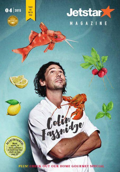 Jetstar Australia Magazine April 2015 issue, feature cover star Colin Fassnidge.