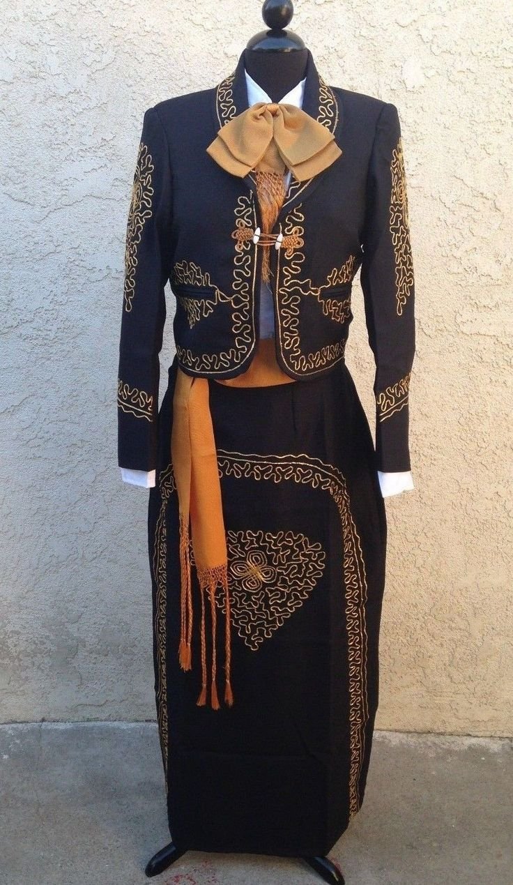 Mexican Charra Mariachi Suit Size 40 from Mexico 5 Pieceset Traje Charra TALLA40 | eBay