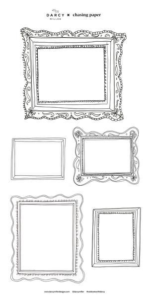 frame set one decals in 2020 doodle frames paper frames on hole in the wall cap oriental id=93277