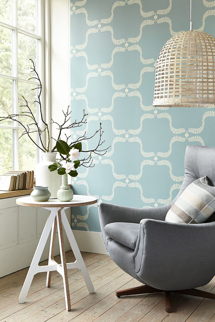 Up The Garden Path - Teal - Wall Covering