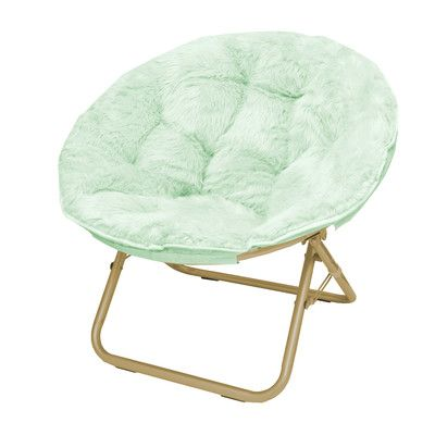 Micromink Papasan Chair 29'' H x 32'' W x 22'' D $76.99 (also comes in Blush and White) - love the gold legs