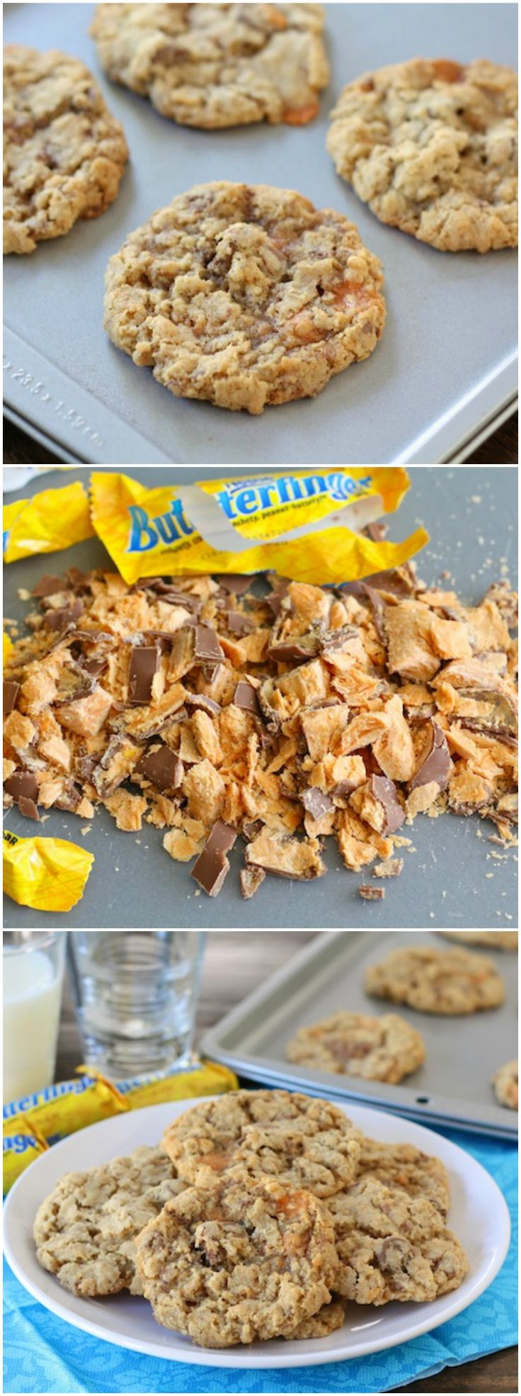 Crispy Butterfinger Cookie Recipe on twopeasandtheirpod.com Use your ...