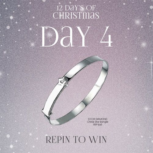 #Win 1 of #dfordiamond girls bangle! Simply follow The Jewel Hut on Pinterest and #RepinToWin. Ends midnight tonight! T&C's Apply. #Giveaway #Competition All winners will be announce 14/12/15