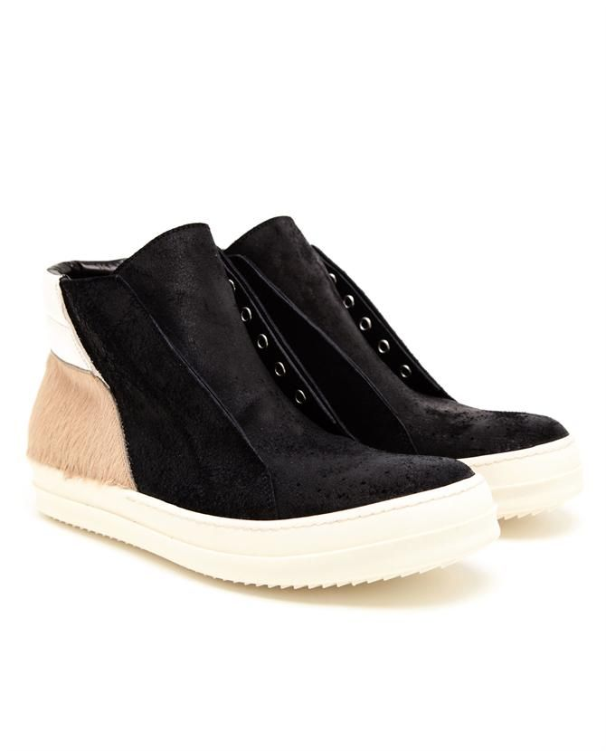 Slip on Sneakers for Men On Sale in Outlet, Black, Canvas, 2017, 8.5 9 Rick Owens