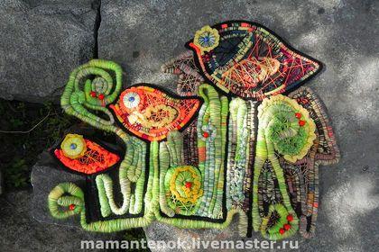 Животные ручной работы. Ярмарка Мастеров - ручная работа Птичье семейство. Handmade.