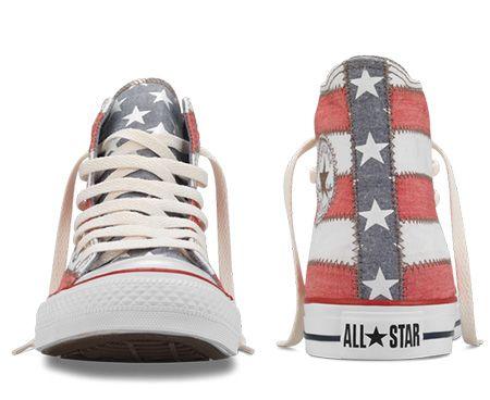 53f07ba26b21 Chuck Taylor American Flag Hi - Front and Rear View