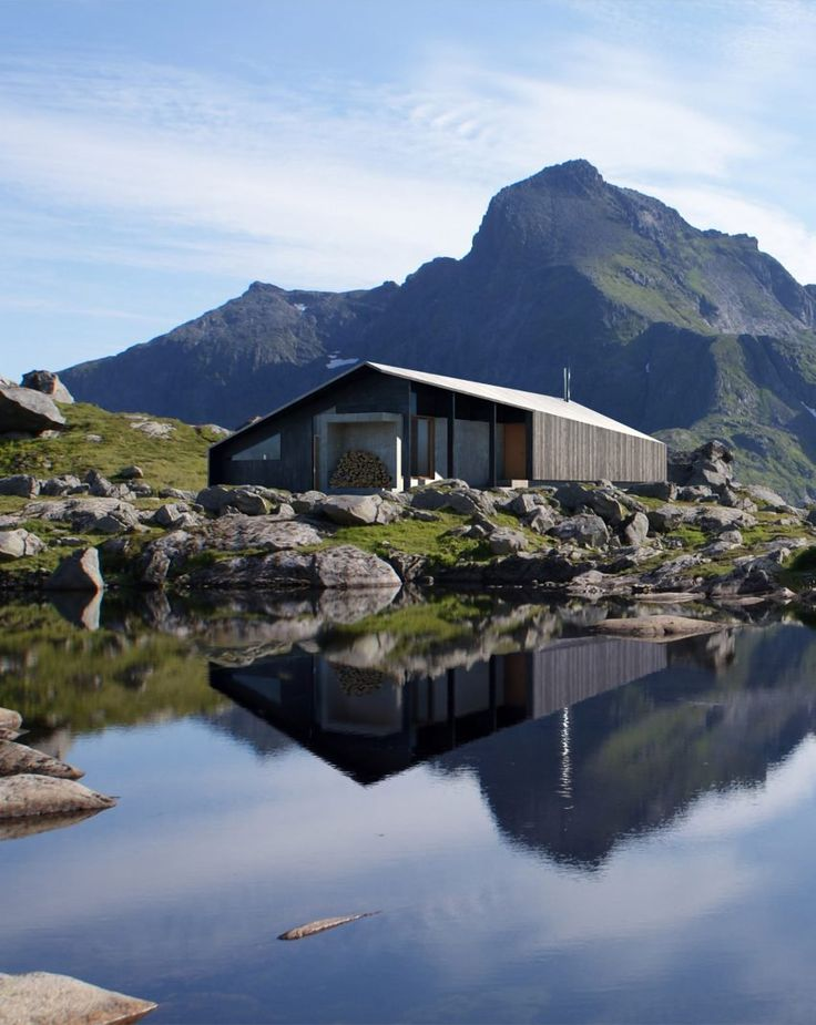 Called Gapahuk, Snøhetta designed the prefab cabin for Rindalshytter, a Norwegian producer of leisure homes. The cabin is designed to be adaptable to various locations and weather conditions.