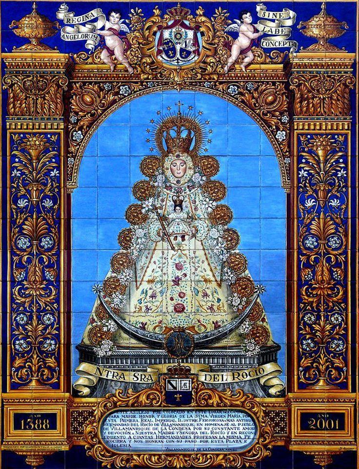Virgen del Rocio. Azulejo de 225x165cm.