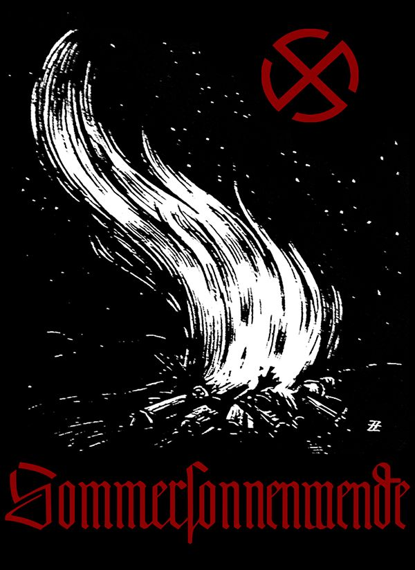 PLANET X HIDDEN IN HISTORY NASA WAS STARTED BY NAZIS BUT VERY REAL CAUSING EARTHQUAKES ITS END TIMES Hails Sonnenwende! Hails Summer Solstice! Flamme Empor! German propaganda poster