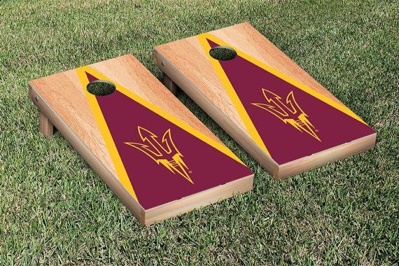 2017 SPRING CORNHOLE SALE - Starts 3/1/17! - ALL Cornhole Boards are $10 off with coupon code: 2017boards. - ALL Cornhole Bags are $5 off with coupon code: 2017bags at checkout. - Coupon Codes VALID starting 3/1/17. - Please note that ETSY only allows 1 coupon code for each order.  --------------------  This listing features 4 different Arizona State cornhole board designs. Each design will come with 8 bags (2 sets of 4) that match the colors of the boards/school. We ...