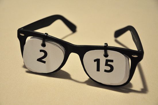 Reuse Eyewear- Make a Calendar What a neat idea