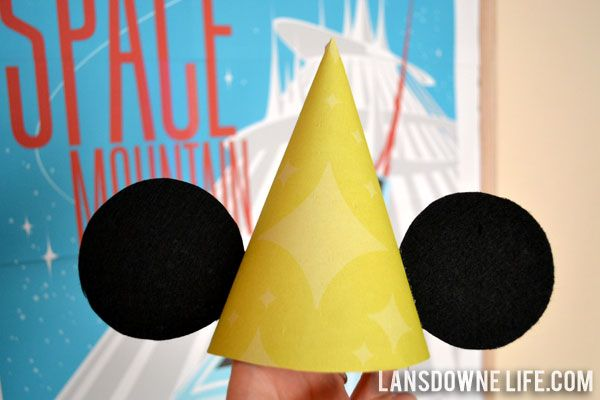 DIY Mickey Mouse Party Hats #DIY #Disney #Parties #Decorations #Decorate #Decor #BirthdayHats #Hat #MickeyEars #HomeDecorBirthday Parties, Birthday Hats, Ears Birthday, Birthday Decorations