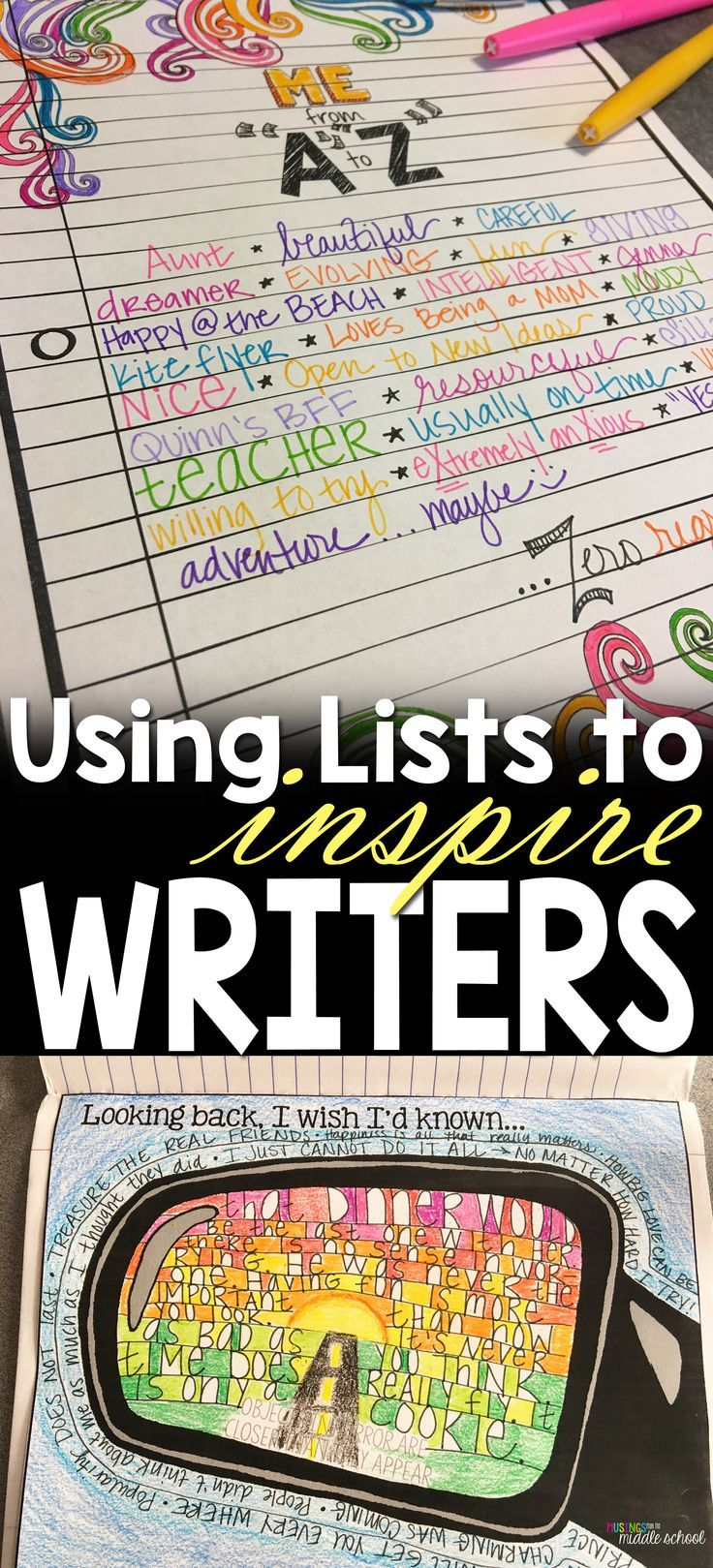Writing lists is a sure-fire way to get your students' pencils moving!!