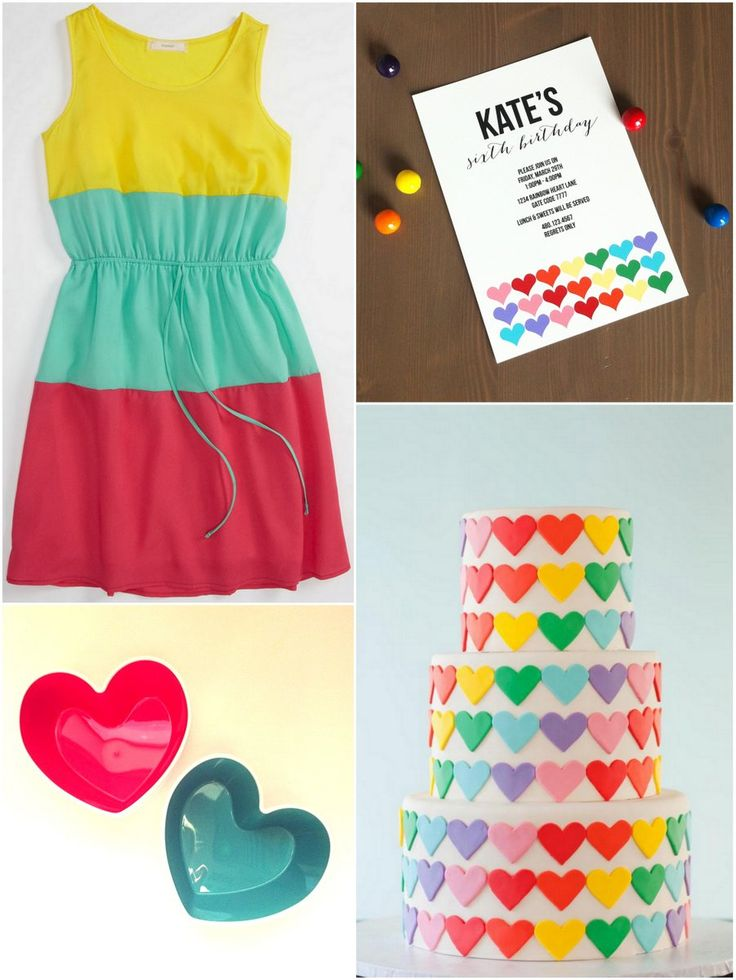 Planning Kate's Rainbow Heart Party!