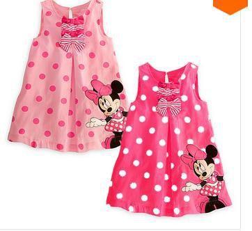Compra Pink mini vestido de ratón online al por mayor de ...