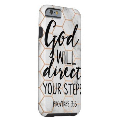 God Will Direct Your Steps Bible Verse Quotes Love Tough iPhone 6 Case - love quote quotes gift idea diy special design