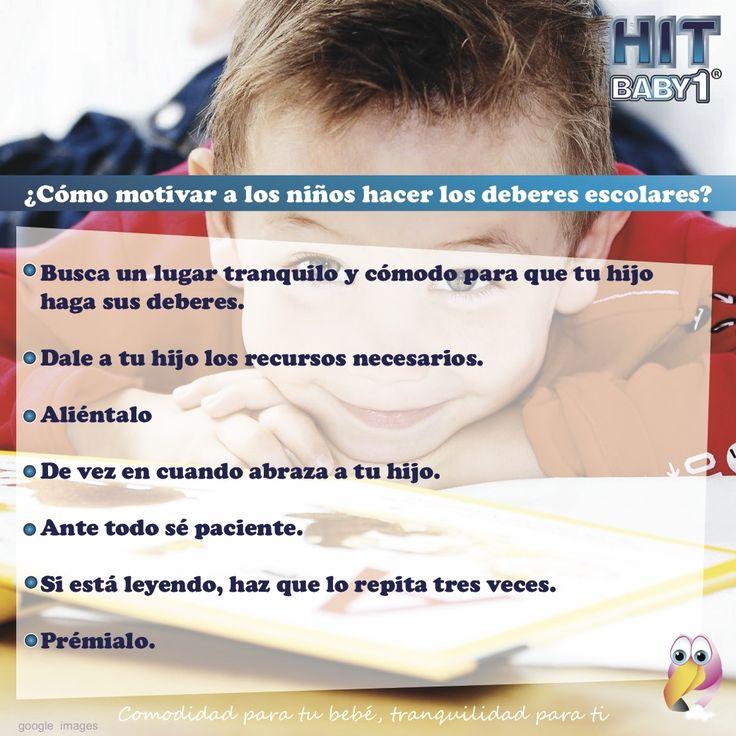 ¿Cómo motivar a los niños hacer los deberes escolares? #niños #deberes #colegio #actividades