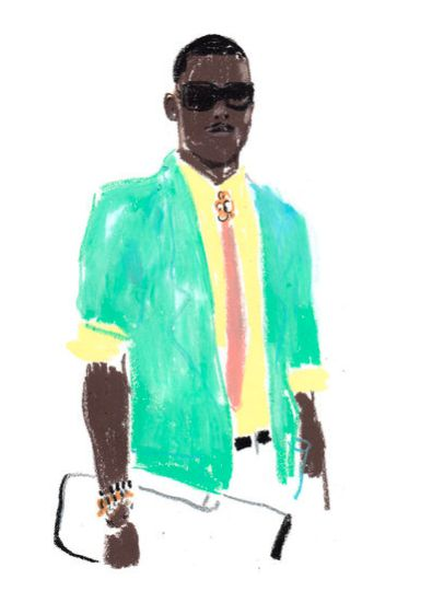 Fashion Illustration - Damien Cuypers - monstylepin #fashion #illustration #damiencuypers #crayon #sketch