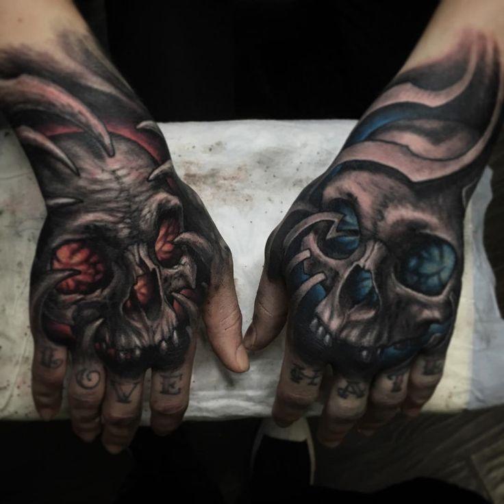 Glowing Hand Skulls   Best tattoo ideas & designs