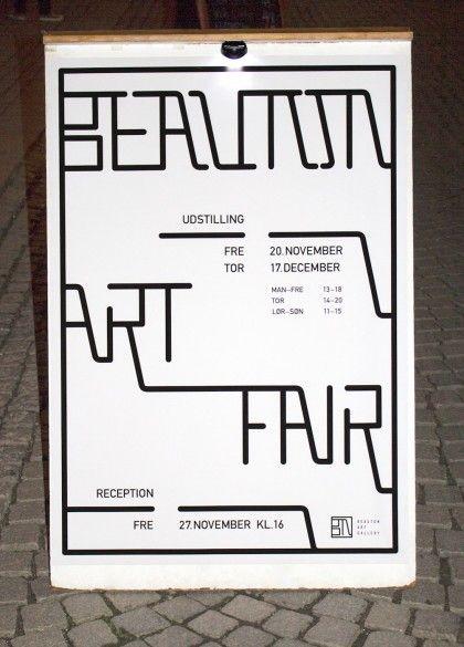 Visual Identityfor Beauton art gallery.  See more here: www.mariebrogger.dk