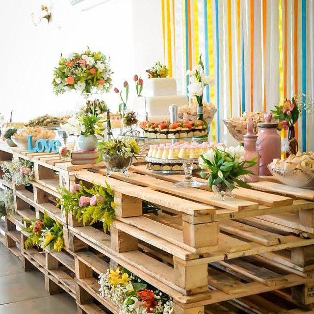 25+ melhores ideias sobre Casamento Pallet no Pinterest  Decorações de casam -> Decoracao De Banheiro Para Festa De Casamento